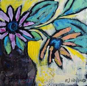 """BE Authentic"" Acrylic on Panel 8 x 8 x 1/4″ $50.00  © 2015 Pam Wingard"